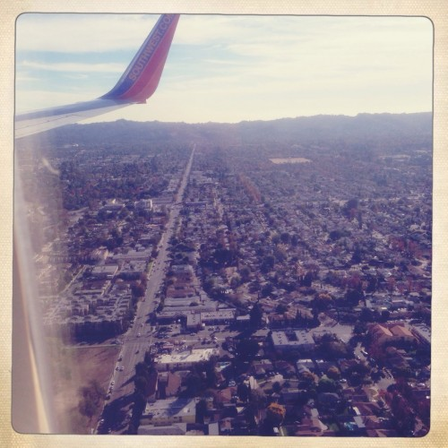 Landing at Burbank is always thrilling.